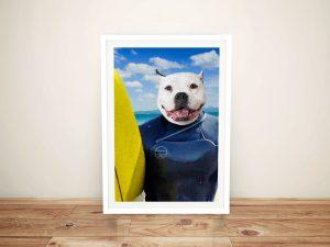 Buy Unique Surfer Pet Portrait Art Cheap Online