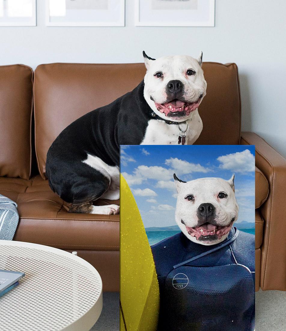 Buy The Surfer a Custom Pet Portrait Print on Canvas | The Surfer