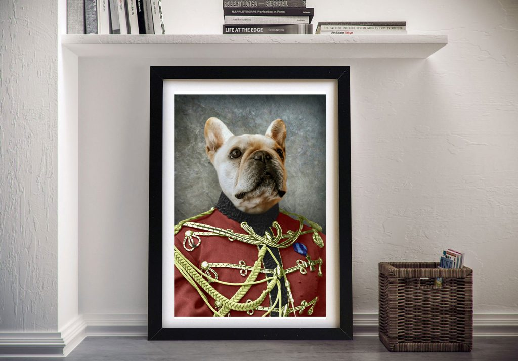 The Colonel Pet Portrait Framed Wall Art