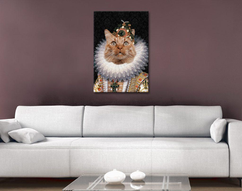The Monarch Personalised Pet Portrait Print