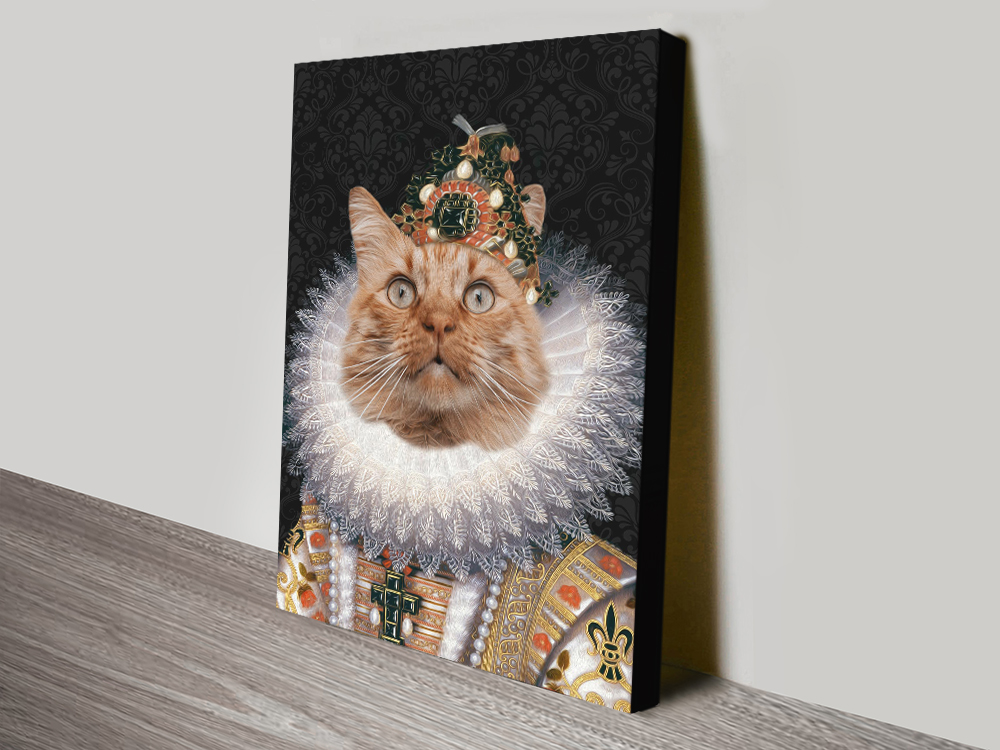 Custom Pet Portrait Canvas Print