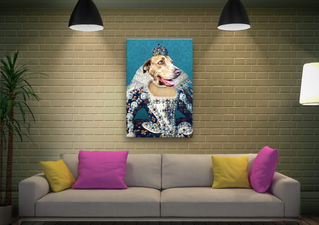 The Queen Pet Portrait canvas print