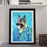 Van-Gogh-Pet-Portrait-Framed-Wall-Art