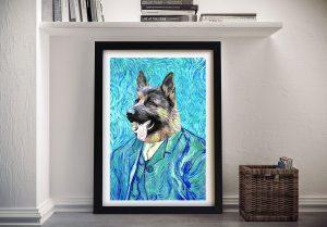 Van Gogh Pet Portrait Framed Wall Art