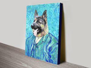 Custom Vincent Van Gogh Pet Portrait