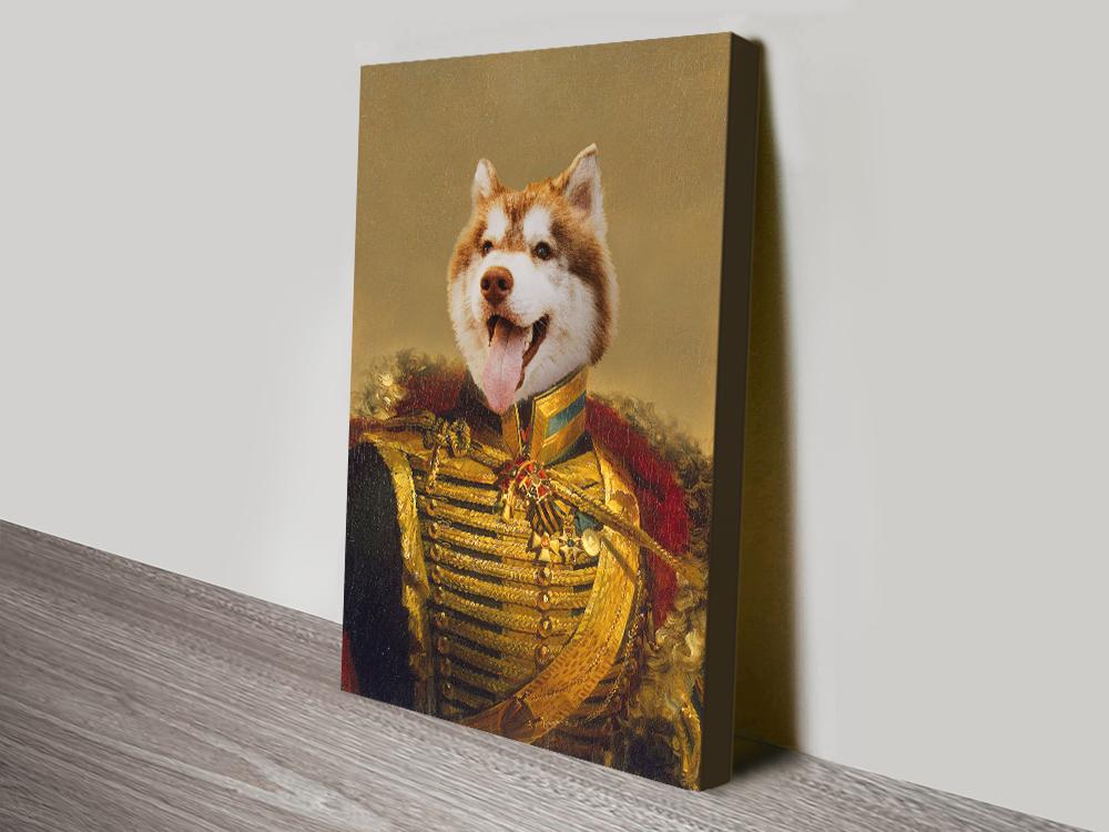 Personalized Viscount Pet Portrait canvas print
