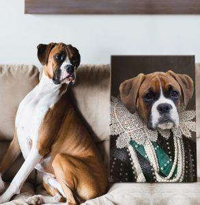 Viscountess Personalised Pet Portrait Art