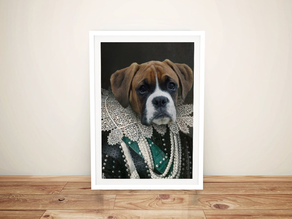 Viscountess Pet Portrait Framed Wall Art