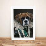Viscountess-Pet-Portrait-Framed-Wall-Art