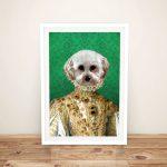 Yellow-Dress-Pet-Portrait-Framed-Wall-Art