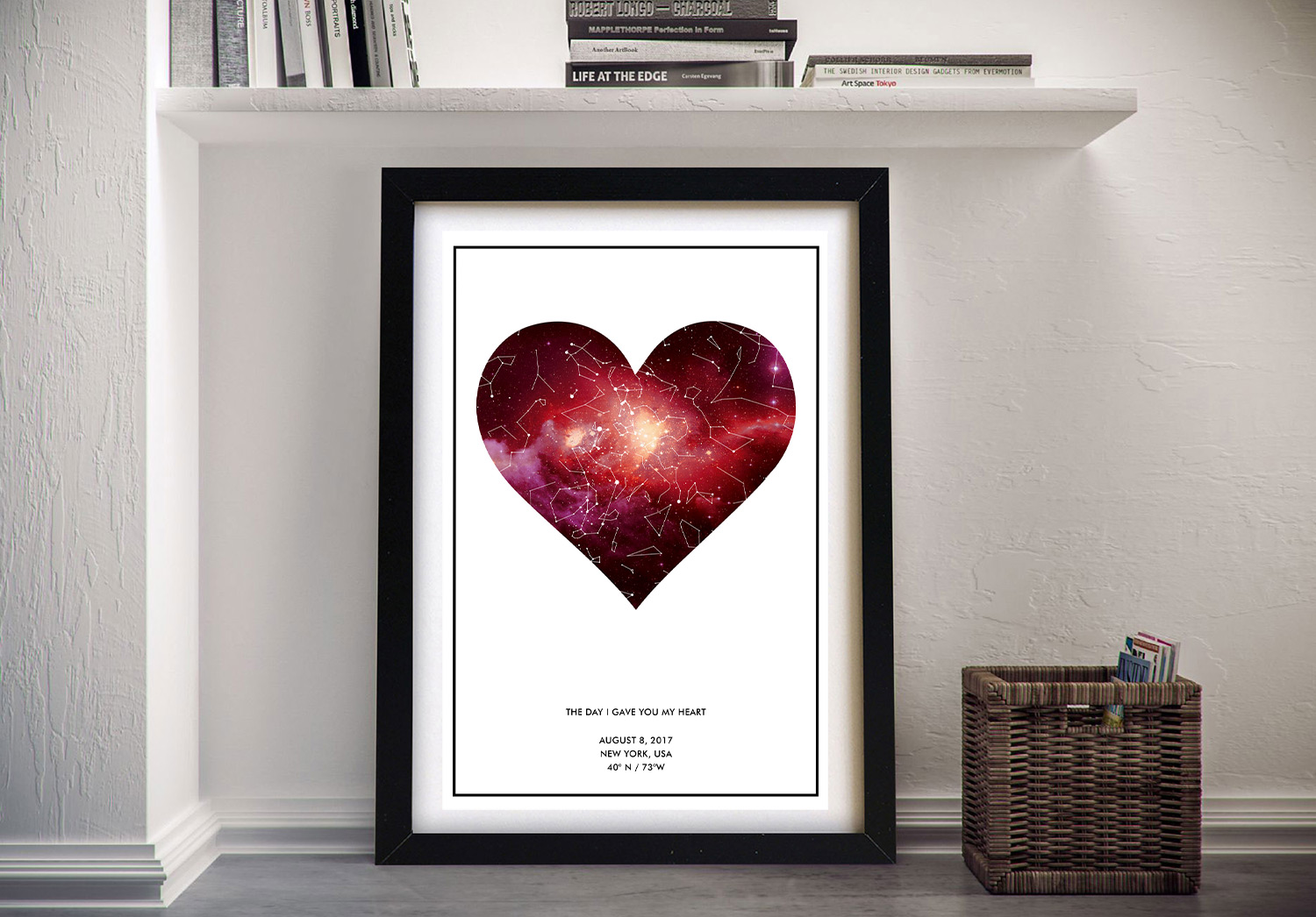 Personalized Star Map Art | Personalised Heart Star Map
