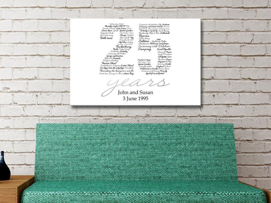Custom Italic Numbers Canvas Print