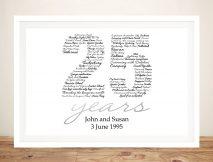 Personalised Italic Birthday Numbers Art