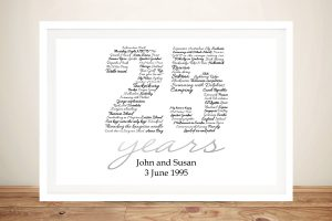Personalised Italic Birthday Numbers Art