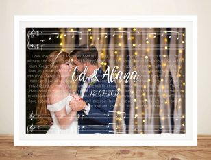 Personalised Photo Song Lyrics Art