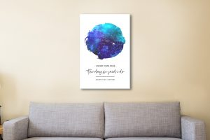 Personalised Blue Watercolour Night Sky Map