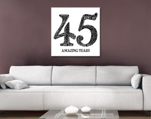 Custom Birthday Numbers canvas artwork