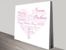 Personalised Italic Herats Mothers Day Art
