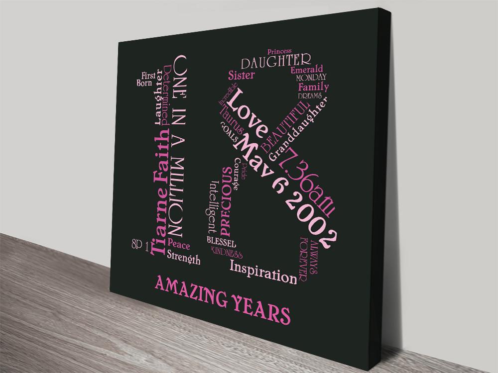 Personalised Birthday Word Art | Amazing Years