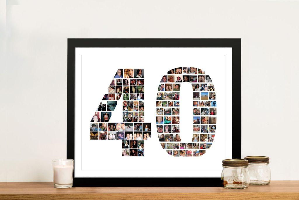 Framed Birthday Custom Collage Cheap Online
