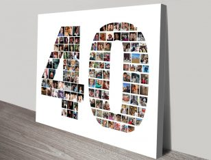 Custom Photo Number Collage Birthday Gifts