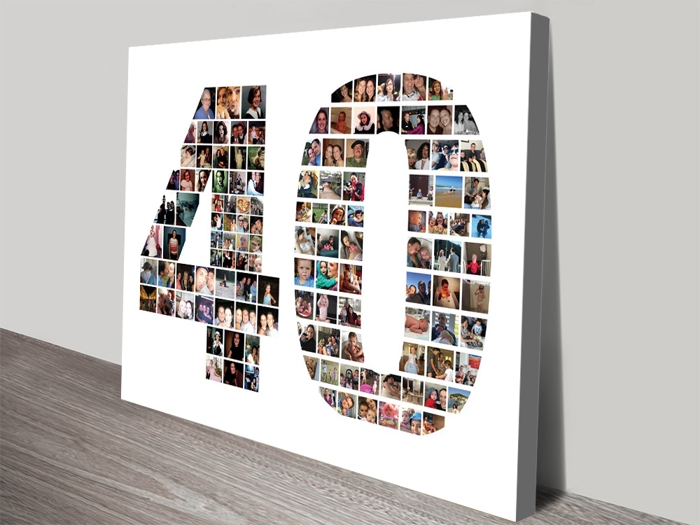 Custom Photo Number Collage Birthday Gifts | A Year to Remember Photo Collage