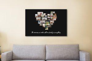 Striking Custom Heart Photo Wall Art Online