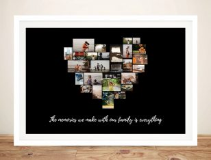 Buy a Framed Personalised Heart Collage