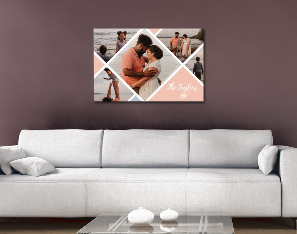 Ready to Hang Romantic Custom Photo Collages