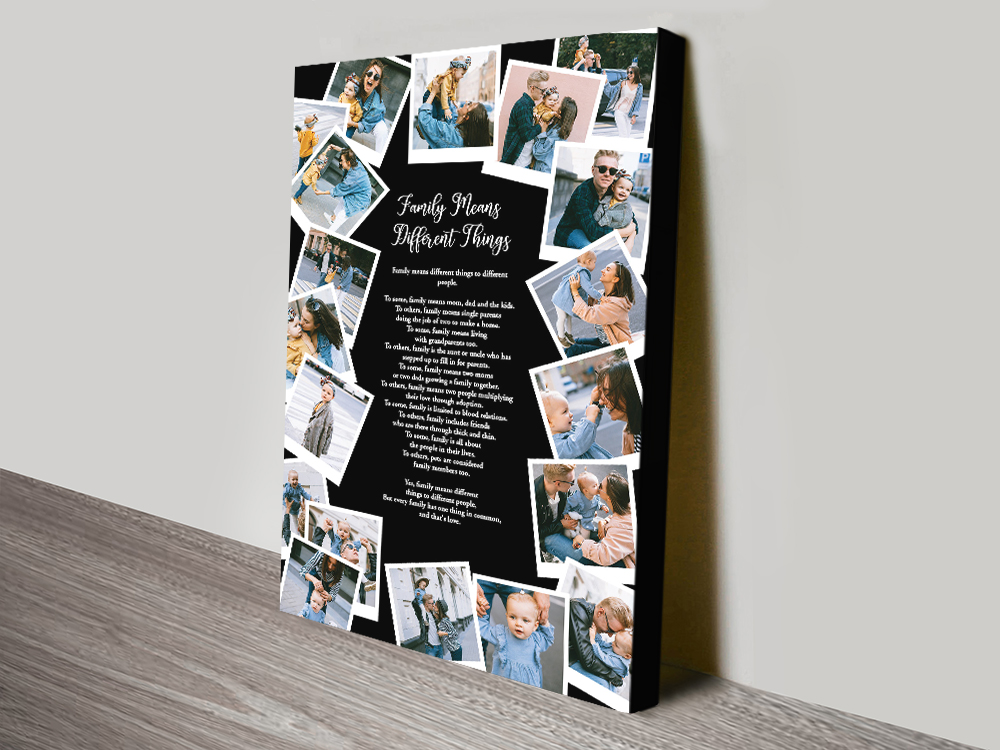 Staggered Photos Canvas Collage Wall Art