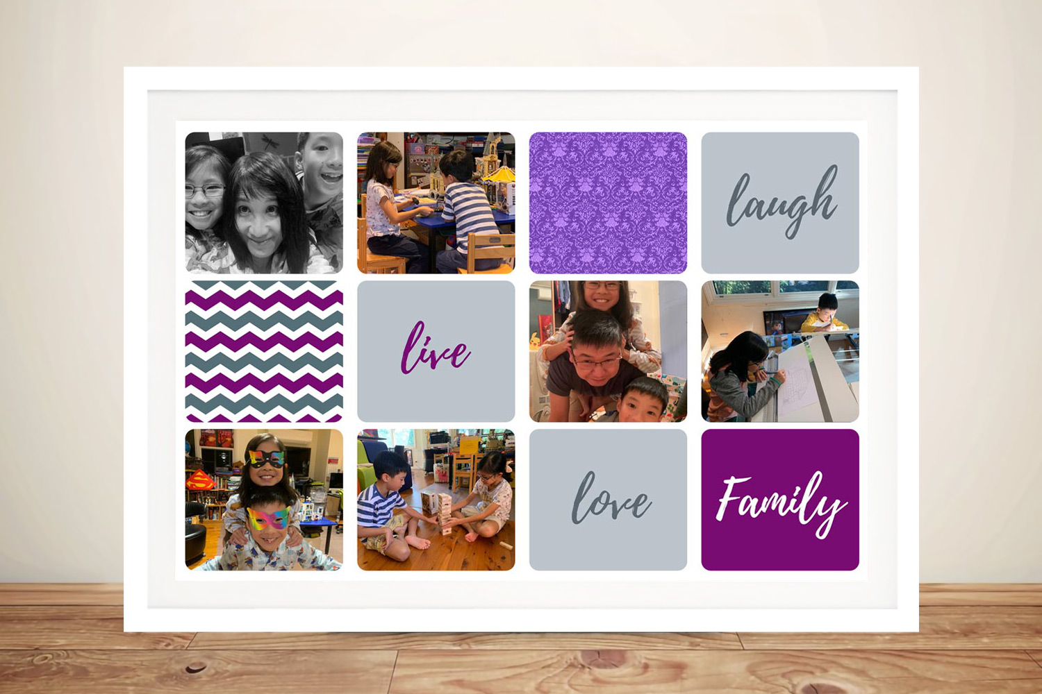Buy a Colourful Framed Photo Collage Print | Colourful Photo Collage