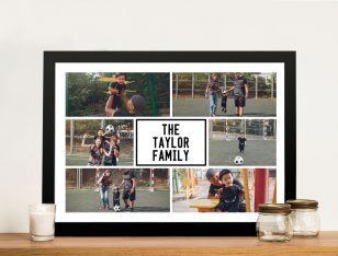 Framed Personalised Family Photo Collage