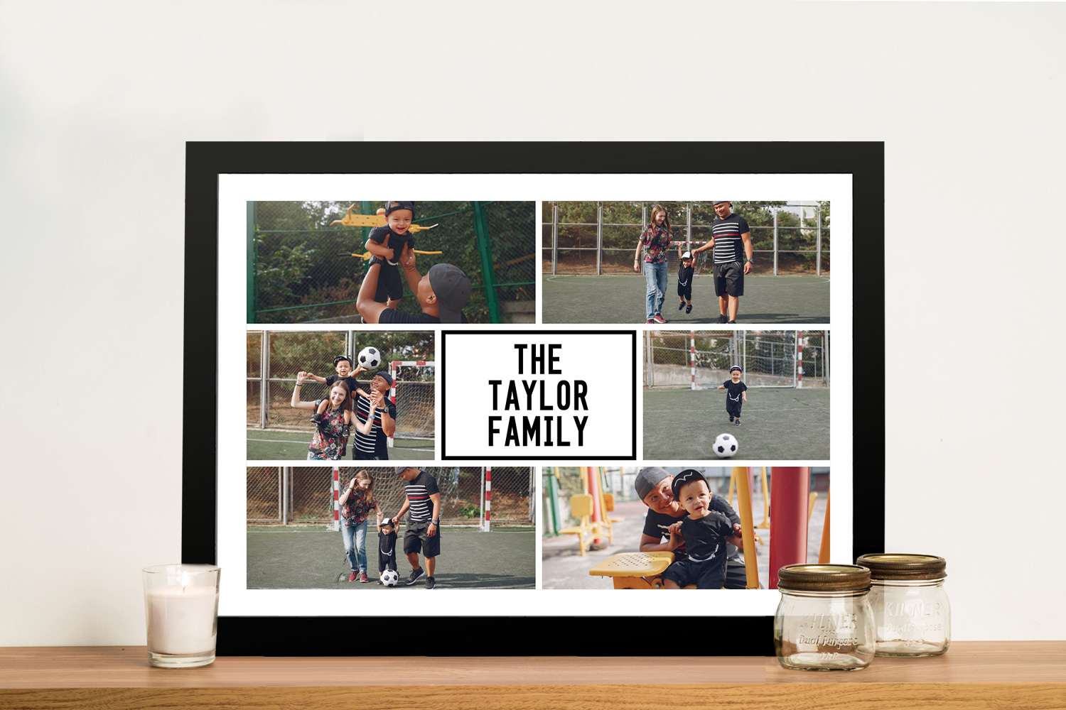 Framed Personalised Family Photo Collage | Family Matters Photo Collage