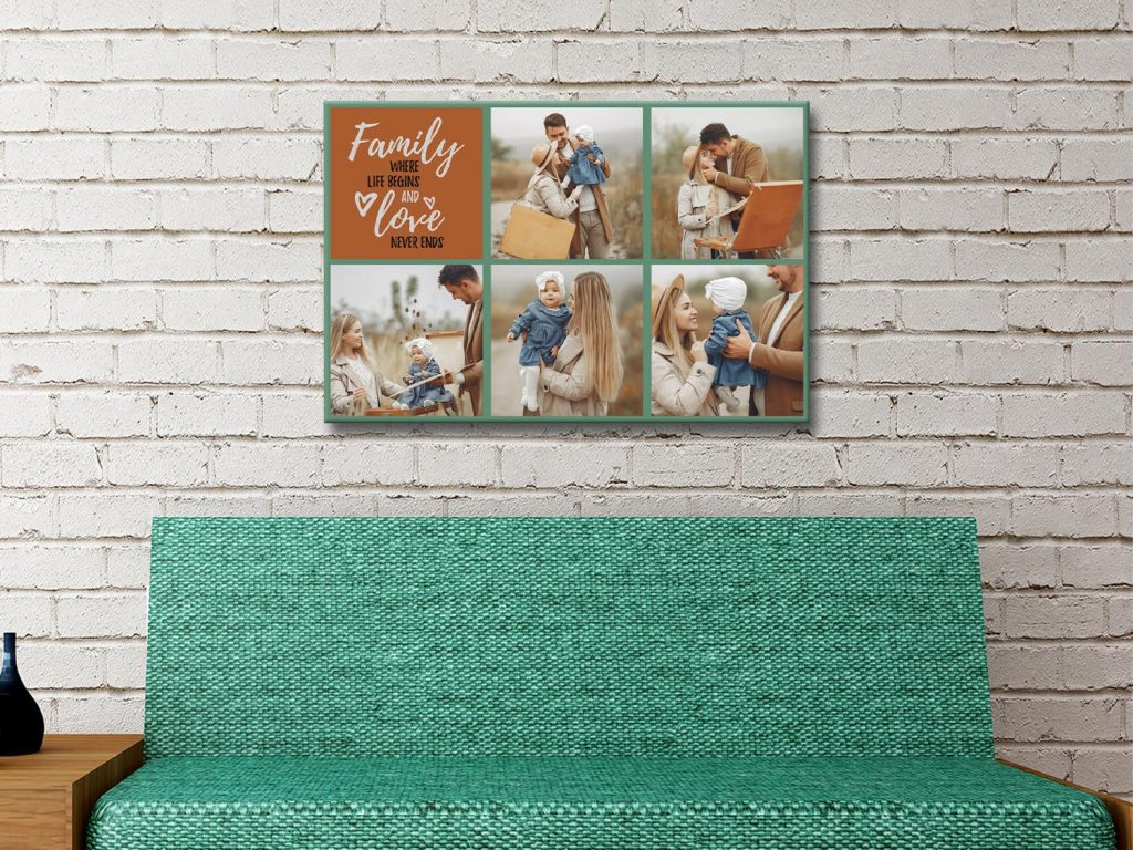 Ready to Hang Custom Family Collage Artwork