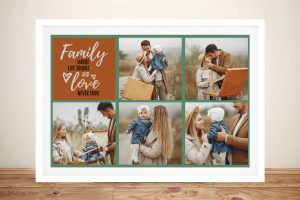 Framed Family Photos Collage Wall Art Online
