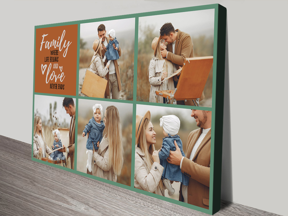 Buy a Family Squares Custom Photo Collage | Family Squares Photo Collage
