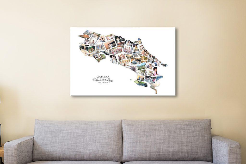 Unique Photo Collage Map Art for Sale Online