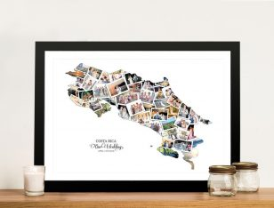 Buy a Costa Rica Framed Photo Map Collage