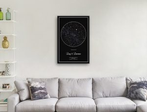 Personalised Silver Star Map