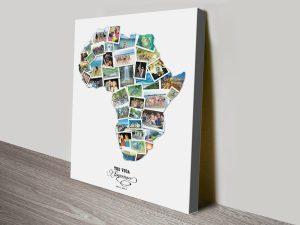Custom Map of Africa Photo Collage Design