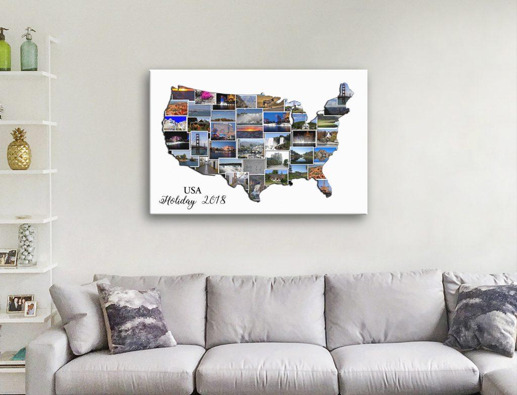 USA Map Photo Collage Home Décor Ideas AU