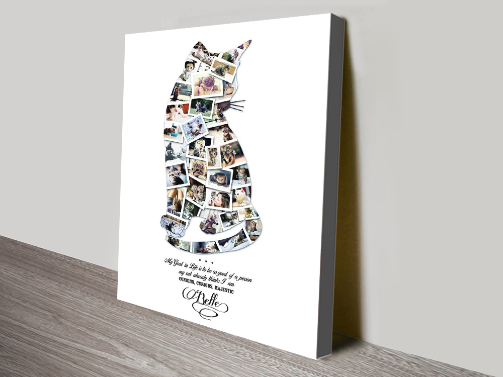 Cat Collage Art Unique Gifts for Animal Lovers