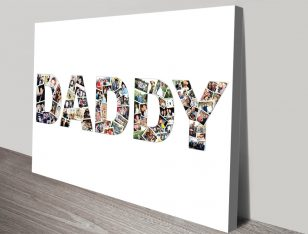 Dad Personalised Photo Collage Art on Canvas
