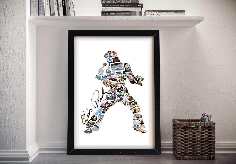 Framed Elvis Custom Photo Collage Artwork | Elvis Photo Collage
