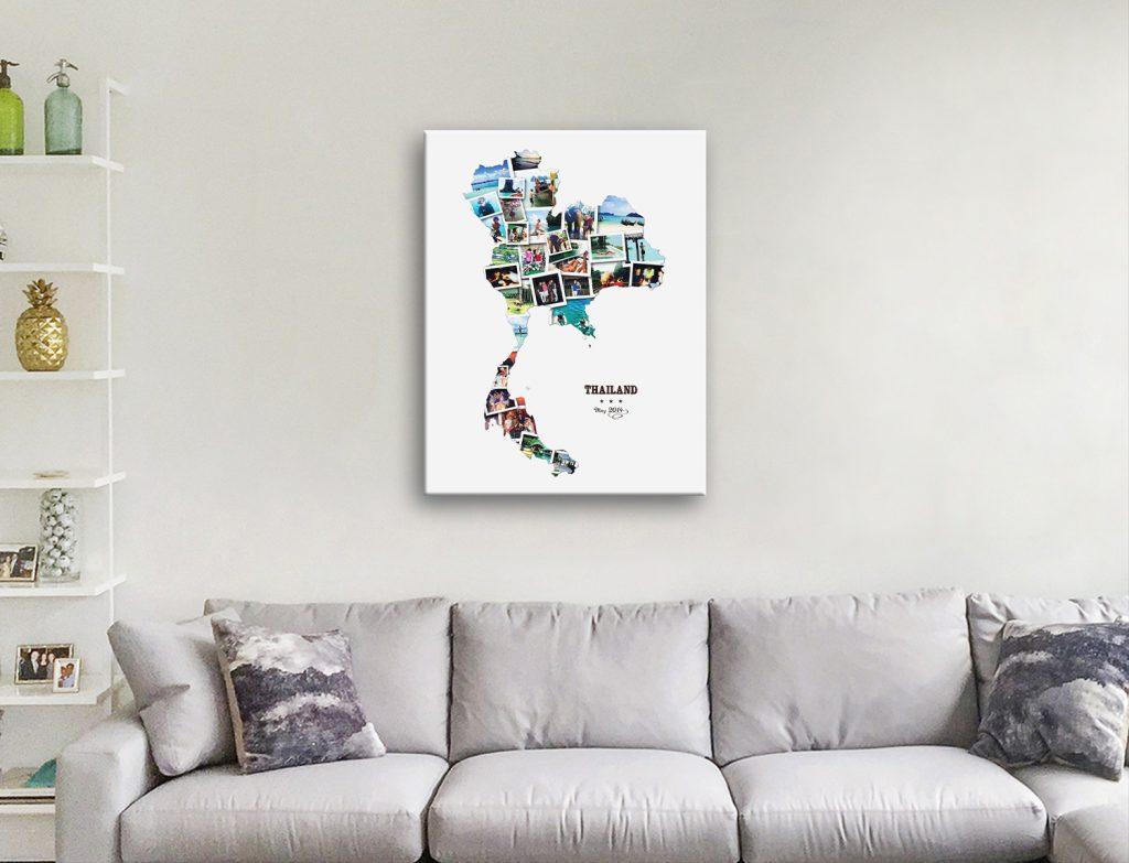 Thailand Custom Map Collage Gift Ideas AU