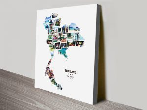 Thailand Photo Collage Personalised Wall Art
