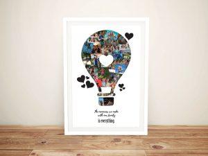 Hot Air Balloon Collage Affordable Custom Art