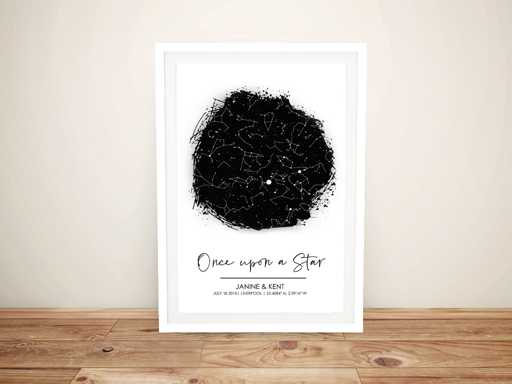 Get a Once Upon a Star Personalised Star Chart | OnceUpon a Star Custom Star Map