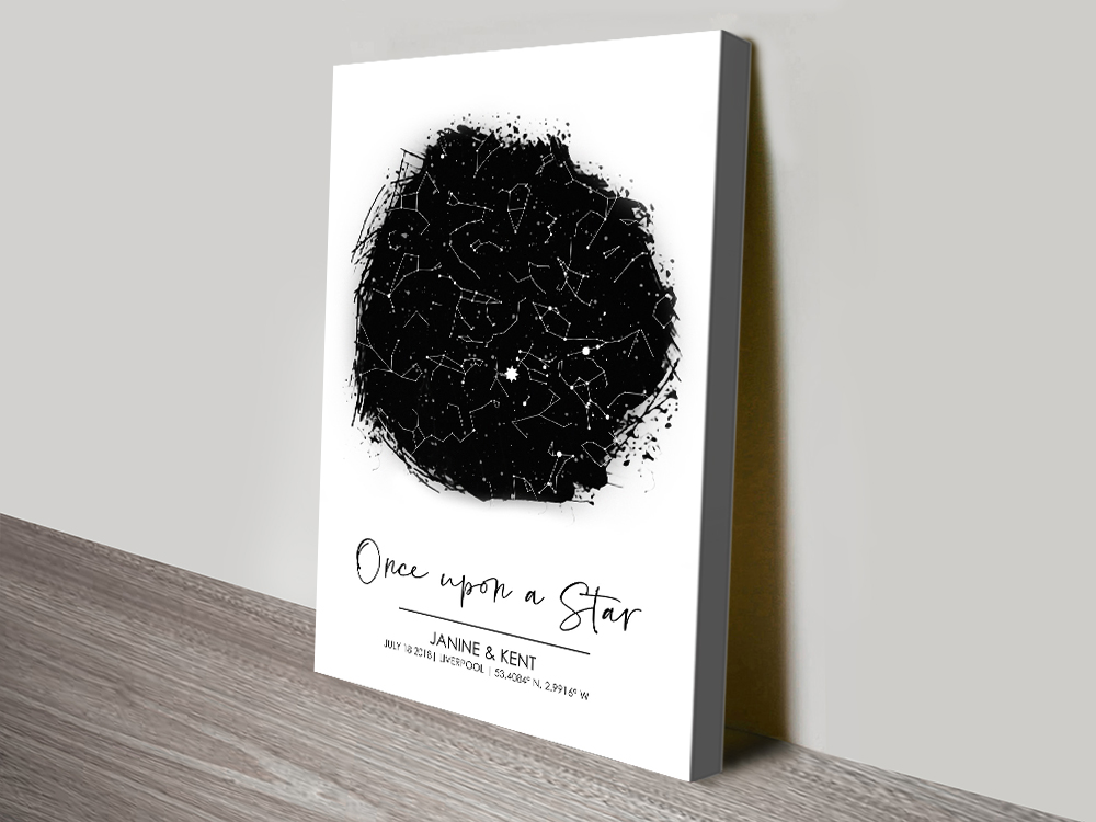 Stretched Canvas Custom Star Maps Online