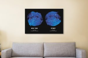 Affordable Personalised Dual Star Maps for Sale